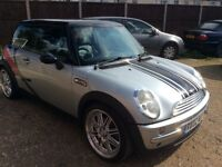 MINI COOPER 1,6 AUTOMATIC 2002 SILVER BLACK LEATHER