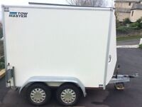 Box trailer with roller shutter door. Had little use. 8ft x 5ft5in box plus nose.