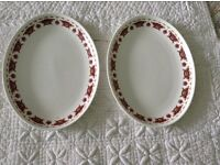 "2 x Wedgewood 2BS78 Plates. 11 1/5"" long x 8 1/5"" wide."