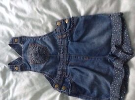 girls denim shorts with bib