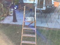 Wooden 4 step ladder
