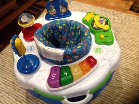 Leap frog learn and groove suitable for toddlers up to 18 months depending on size of baby.