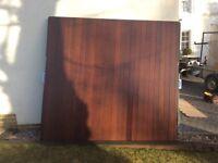 Pre-owned single cedar garage door. Make Woodrite, frame 3 x 3. (2261 x 2134) bought as seen