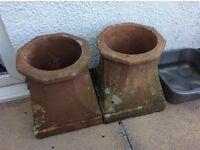 Pair of rustic Chimney pots