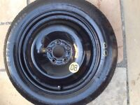 Space saver wheel fits Ford CMax 2008. VGC excellent tread