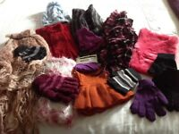 Selection of Scarfs / Gloves and one Hat - approx 16 items