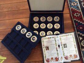 Westminster - Coronation Jubilee coin collection- 24ct gold plated
