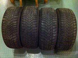 Winter Tyres - 4 x Dunlop Winter Sport 4D 195/55/16 87H M+S