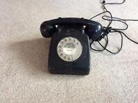 Old style circular dial phone black