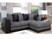 BRAND NEW DYLAN CHINNILLE FABRIC CORNER SOFA ***ON SALE****