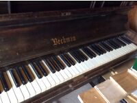 Upright piano solid wood all keys working