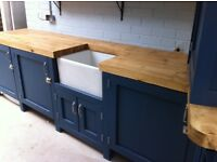Freestanding kitchen run solid timber work tops