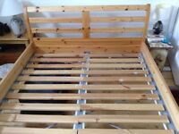 IKEA Wooden Double Bed Frame in good condition