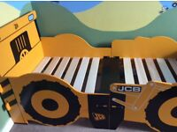 Super Cool KIDSAW JCB Digger Single Bed with Book/Toy storage - FRAME Only