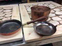 3 Copper pans