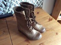 Clark's lace up boots.