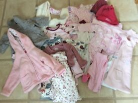 Baby girl's clothes age 0-6 months