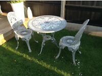 Garden patio table and 2 chairs £15 Ono tel 07966921804