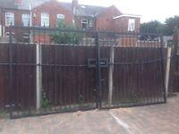 Heavy duty metal gates
