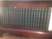 Macmillan encyclopaedias, 21 volumes, leather bound