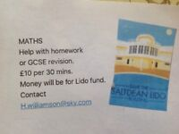 Help with maths homework or GCSE revision