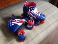 Girls roller boots size 2, excellent condition.