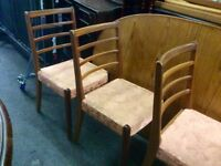 Teak retro dining table & 4 chairs