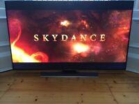 "55"" SAMSUNG SMART 4K ULTRA HD 3D LED TV WI-FI FREESAT VOICE CONTROL SLIM SLEEK BACK"
