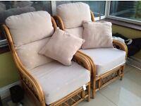 Conservatory bamboo furniture set