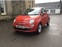 !!! FIAT 500 CONVERTIBLE LOW MILES YEARS MOT 2010 PETROL 1.4 !!!