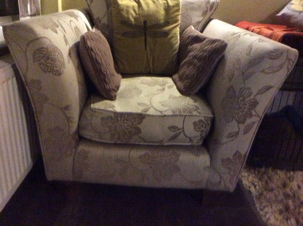 Good Quality Well Made Armchair Very Comfy Neutral Colours Condition