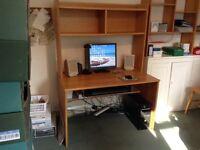 Computer desk with storage shelving unit (John Lewis)