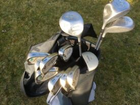 Set of Ladies Browning legend golf clubs with bag.