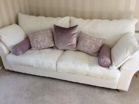 3 piece suite - large sofa and 2 armchairs - Collins and Hayes - superior quality