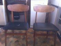 Upcycling project - 1960's dining chairs