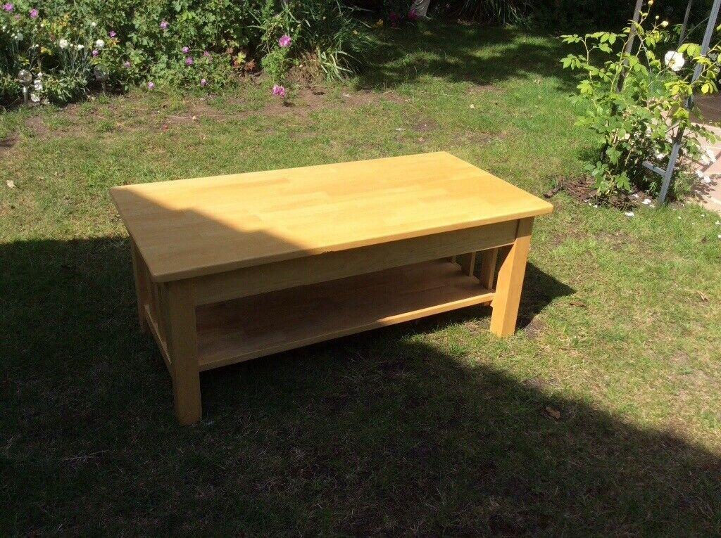 Rubberwood Coffee Table.Rubber Wood Coffee Table In Norwich Norfolk Gumtree
