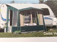 Caravan porch awning, Ventura Cadet, green