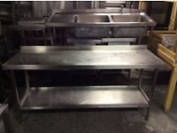 Stainless steel tables ( different sizes available)