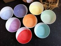 Gift Set Royal Doulton Handcrafted Porcelain Rainbow Serving Bowls Dishes Table Wear / Can Deliver