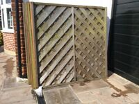 Fence panels 5 off second hand. 1.8m x 1.8m (approx 6foot) buyer collects