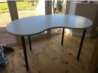 Ikea Hissmon/Adils Table (cashew nut shaped - white)