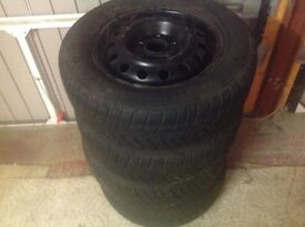 i30 HYUNDAI WINTER WHEELS WITH TYRES X4, TYRE SIZE 195/65R15