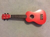 Ukulele with case
