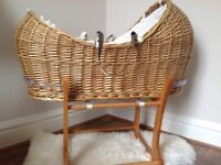 Mothercare The Snug Moses Basket with rocking stand