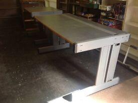 Metal frame tables
