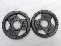 4 x 2.5kg Marcy Olympic Tri-Grip Cast Iron Weights