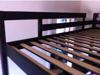 black ikea bed