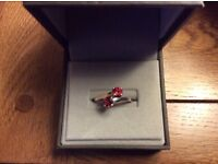 Rhodolite Garnet Stirling silver ring