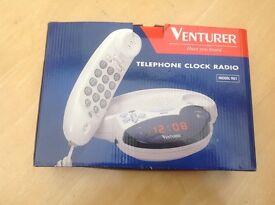 VENTURER TELEPHONE CLOCK RADIO ALARM