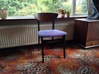 Dining table with four dining chairs
